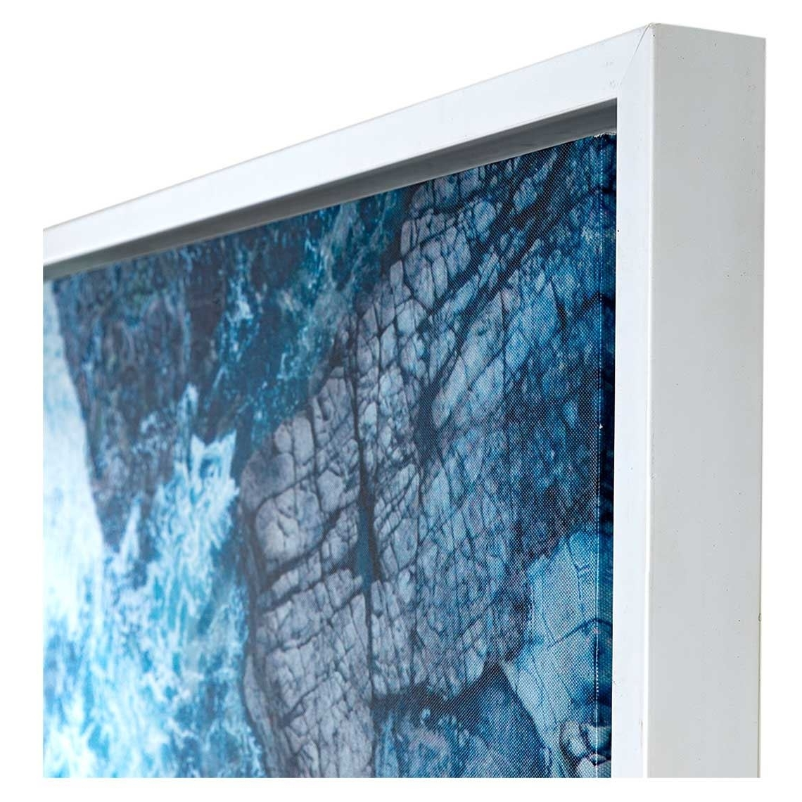 Neeks & Gaston Framed Canvas 120X100Cm Mooloolaba Waves In Trendy Mandurah Canvas Wall Art (Gallery 4 of 15)