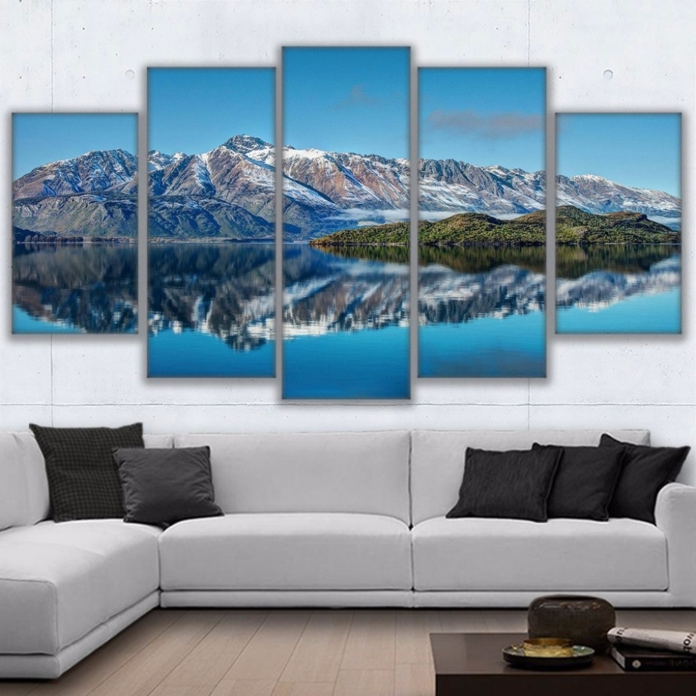 New Zealand Canvas Wall Art Inside Well Liked Canvas Prints Poster Wall Art Frame Home Decor 5 Piece Queenstown (View 7 of 15)