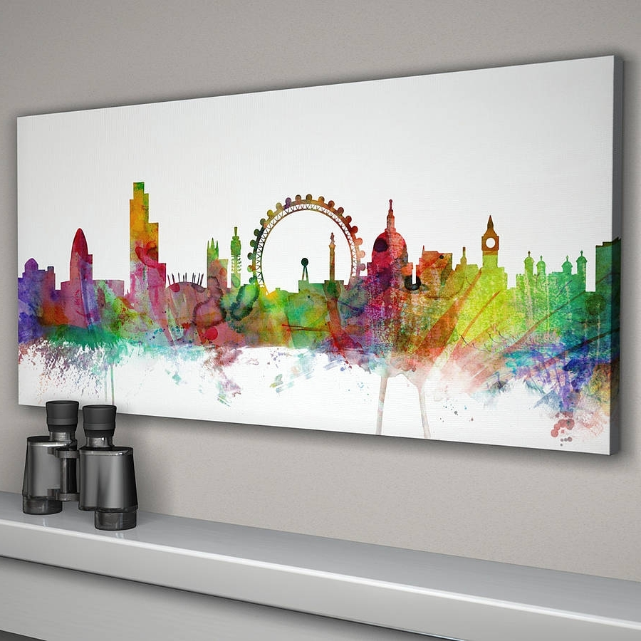 Newcastle Canvas Wall Art Within Most Recently Released London City Skyline Printartpause (Gallery 11 of 15)