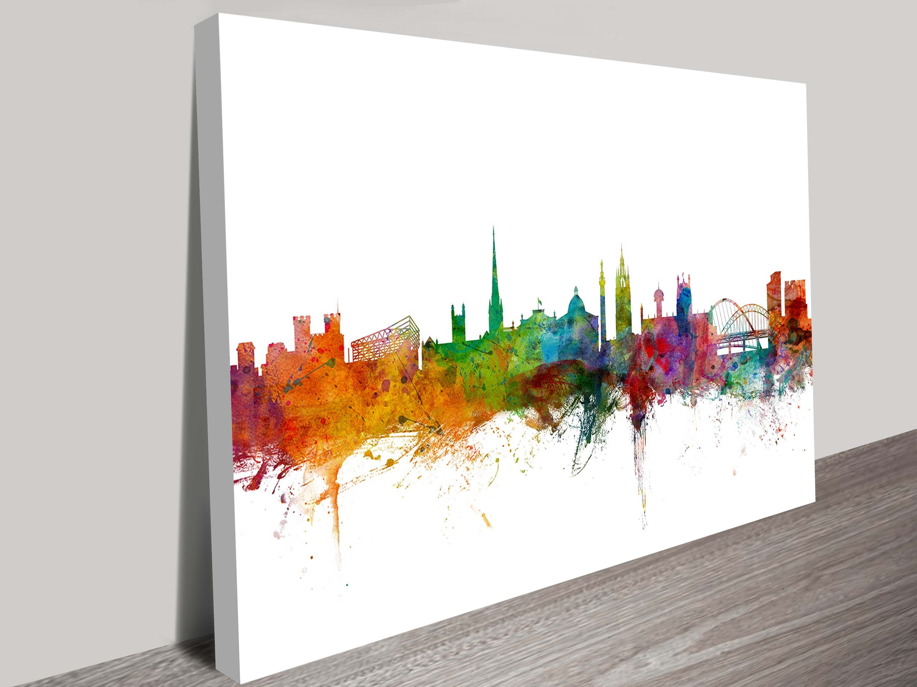 Newcastle England Skyline On Canvas Prints Regarding Most Recent Newcastle Canvas Wall Art (View 4 of 15)
