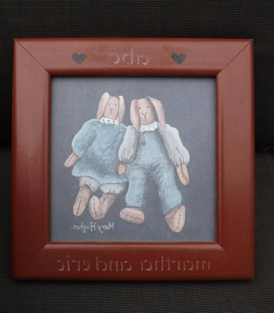 Newest 2 Mary Hughes Vintage Dolls Framed Folk Art Prints 10X10 With Regard To Framed Folk Art Prints (Gallery 9 of 15)