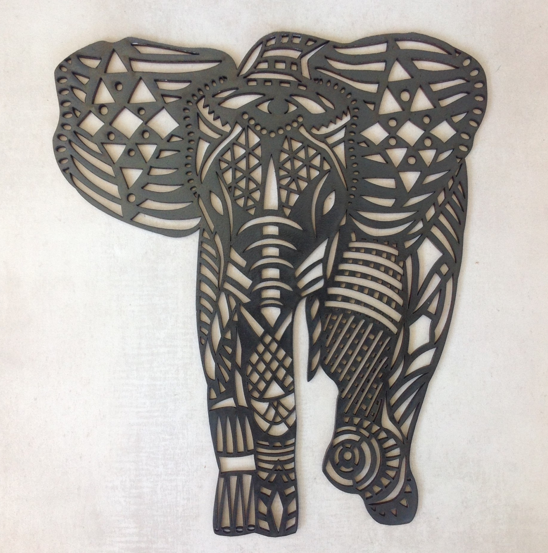 Newest African Wall Accents For Let This Fancy Elephant Grace Your Wall! The Elephant Is A3 Size (Gallery 3 of 15)