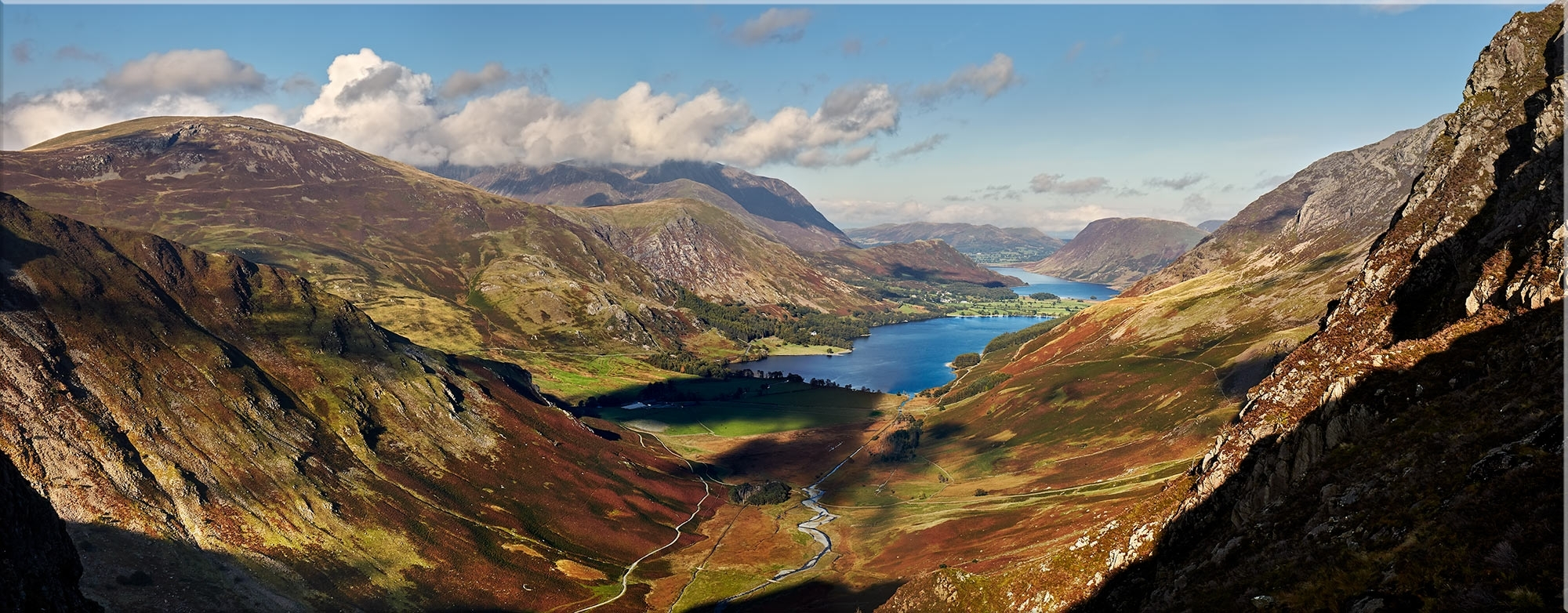 Newest Buttermere Valley Green Crag – Lake District Canvas Prints With Lake District Canvas Wall Art (View 11 of 15)