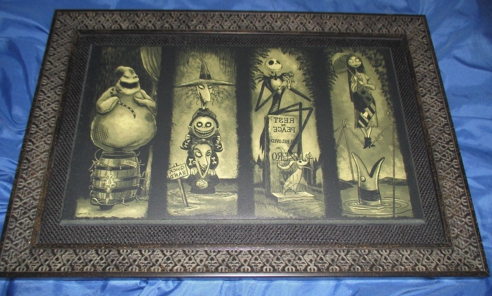 Newest Christmas Framed Art Prints For Haunted Mansion Framed Art Print ~nightmare Before Christmas (View 5 of 15)