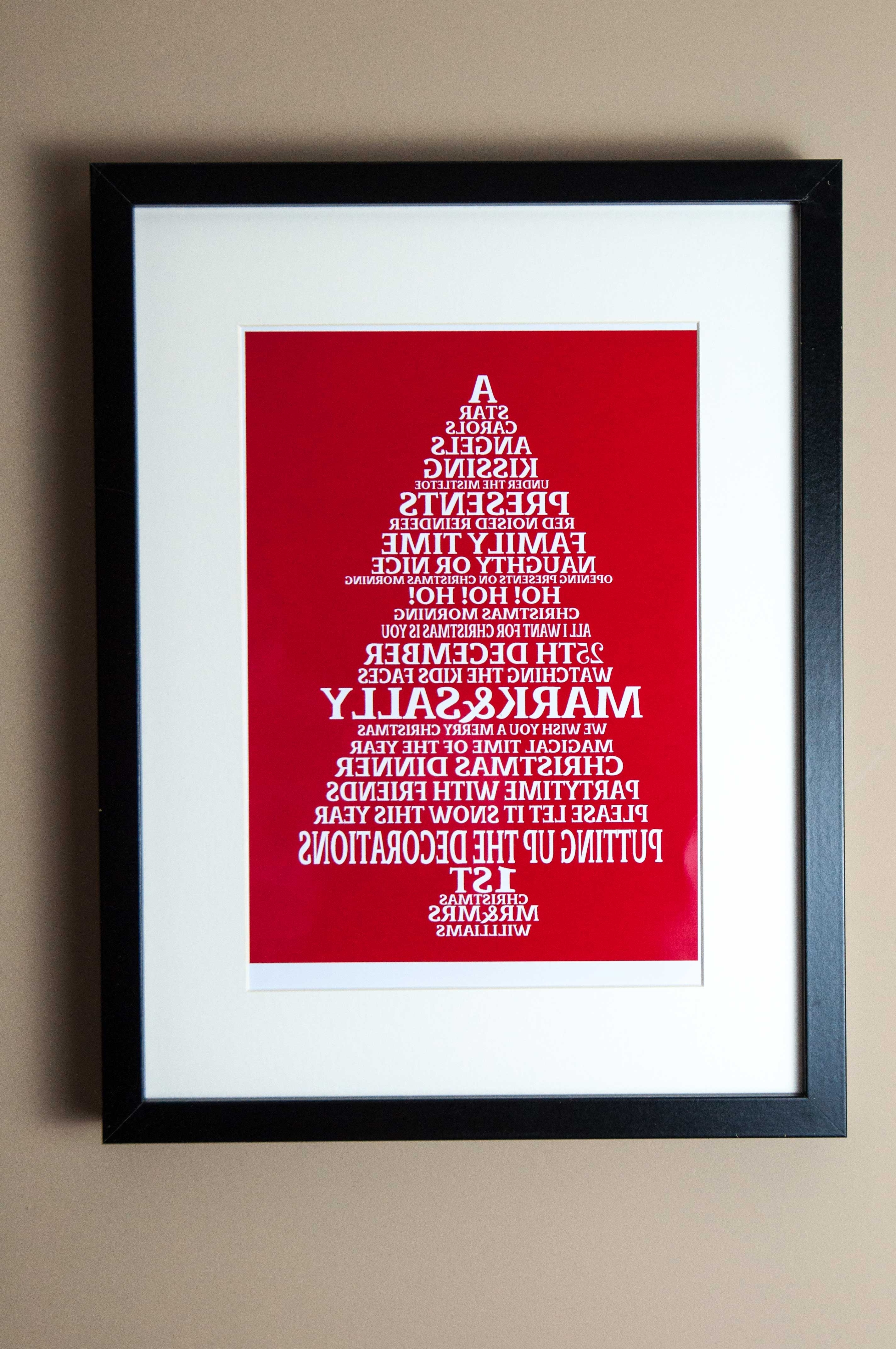 Newest Family Word Art Christmas Tree Print – Pastels And Poppies With Regard To Christmas Framed Art Prints (View 10 of 15)