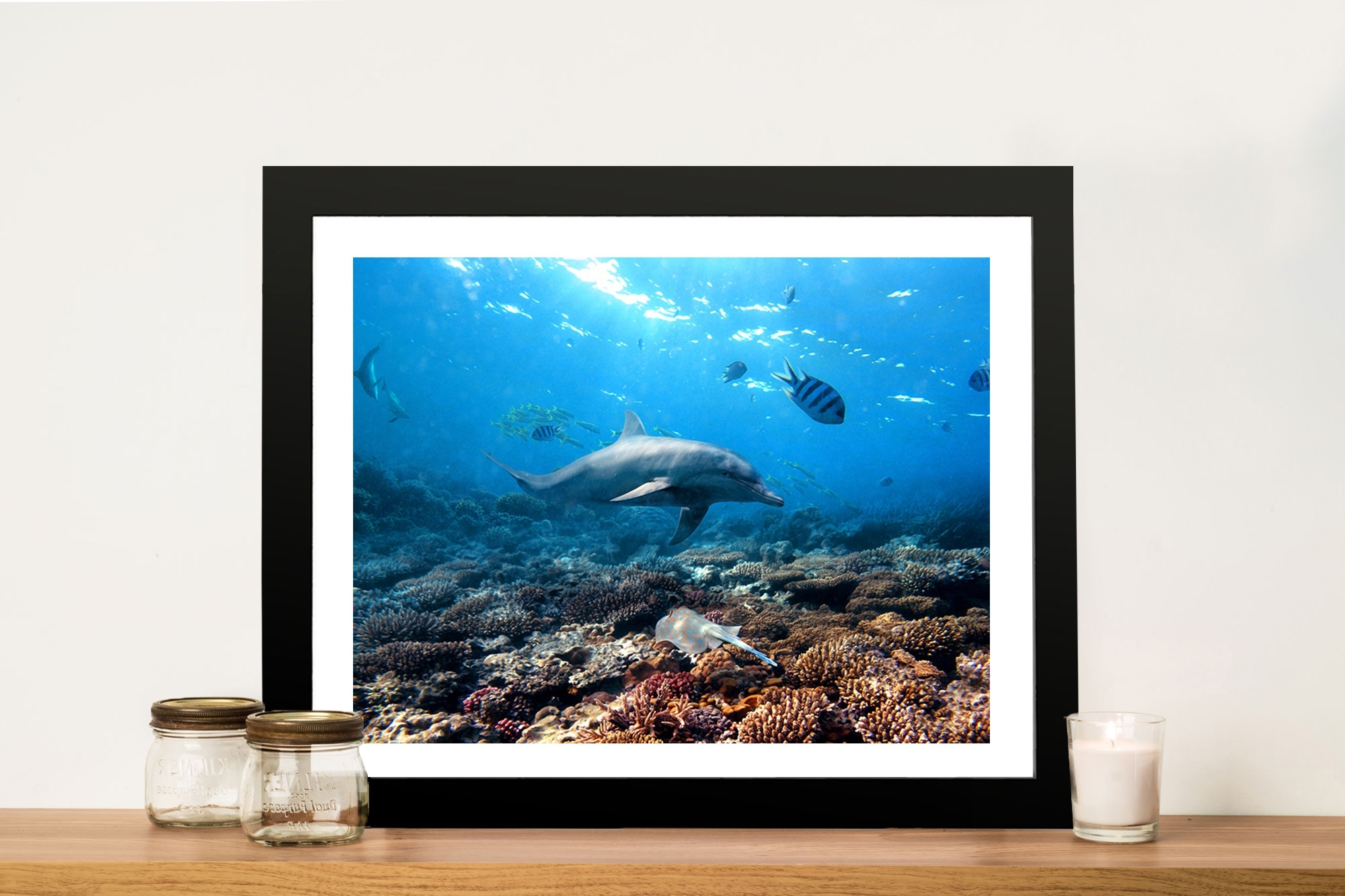 Newest Geelong Canvas Wall Art Inside Buy Dolphins Canvas Prints Geelong Melbourne Australia (View 11 of 15)