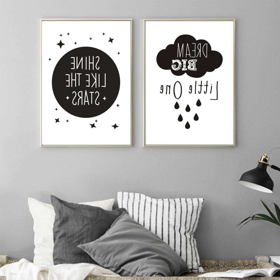 Newest Modern Nursery Canvas Wall Art For Inspirational Love Quotations Canvas Painting Poster Printable (Gallery 9 of 15)