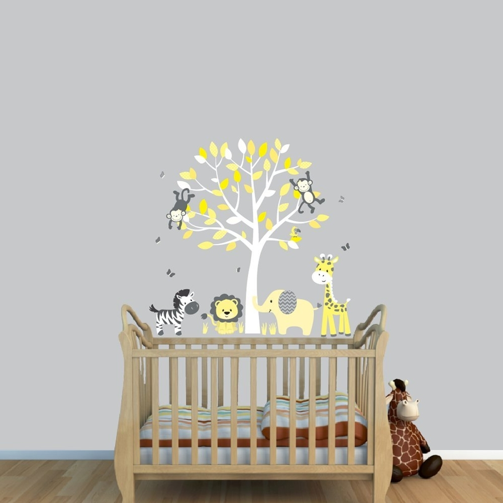 Newest Nursery Decals And More Stickers: Fabric Tree Stickers, Tree Intended For Fabric Tree Wall Art (View 9 of 15)