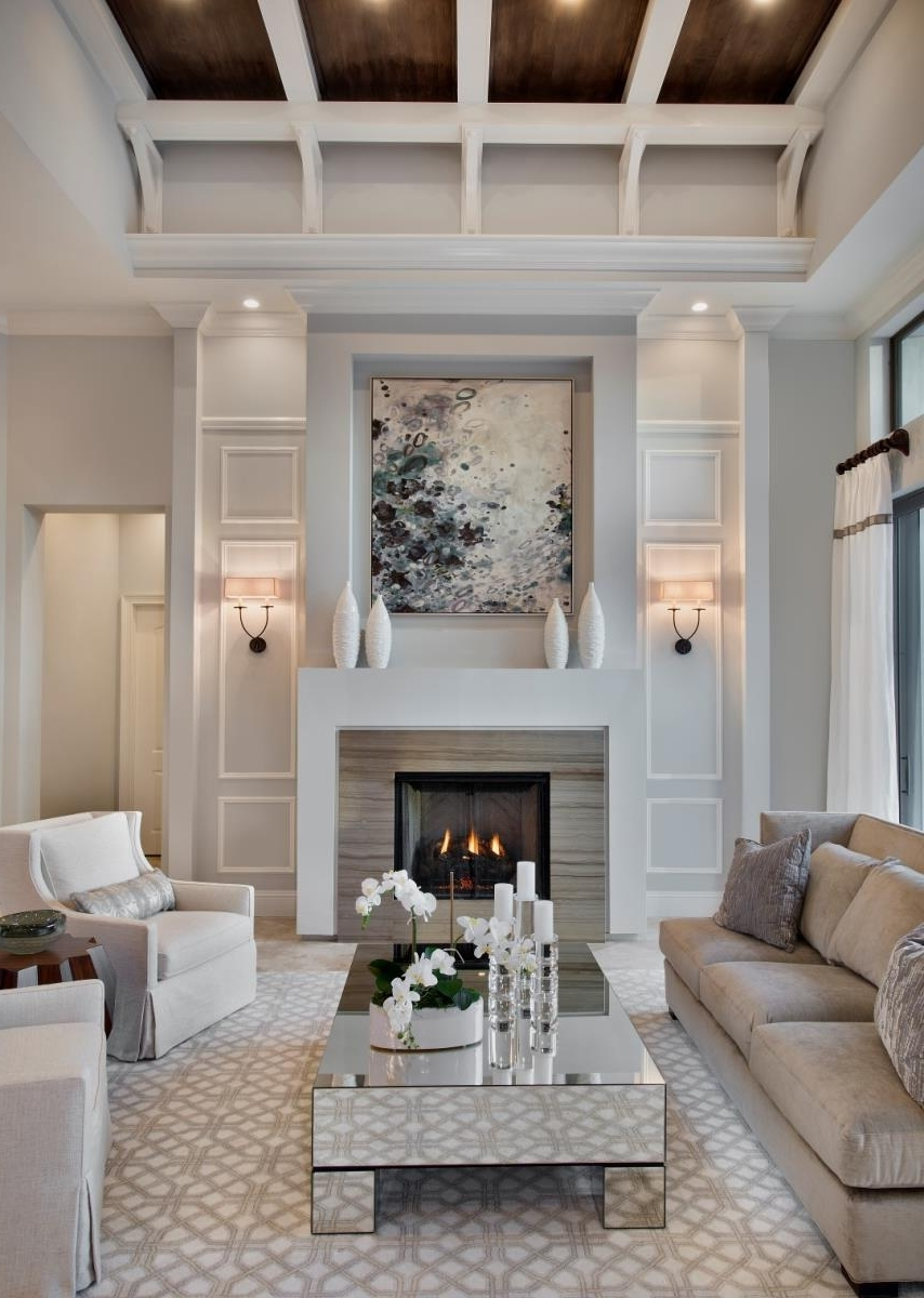 Newest Room Decor Ideas Design Living Fireplace Decorating Layouts With Pertaining To Wall Accents Over Fireplace (View 13 of 15)