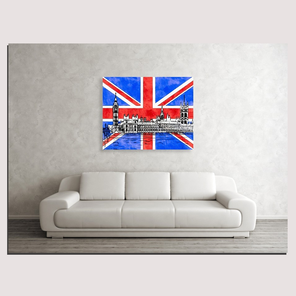 Newest Union Jack Wall Art With Signature Gothic Revival Parliament Intended For Union Jack Canvas Wall Art (View 5 of 15)