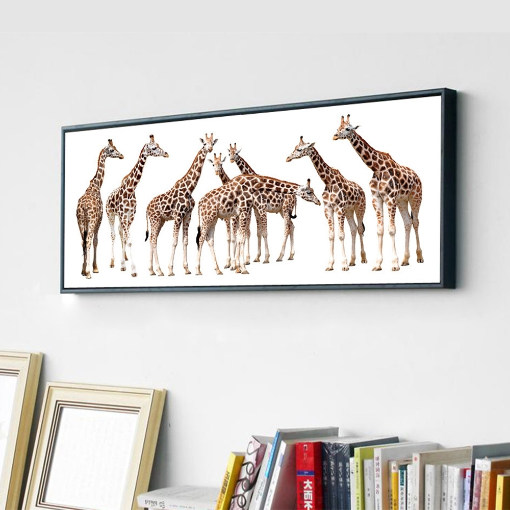 Newest Wall Art Designs: Giraffe Wall Art Popular Giraffe Wall Art Large With Regard To Giraffe Canvas Wall Art (View 13 of 15)