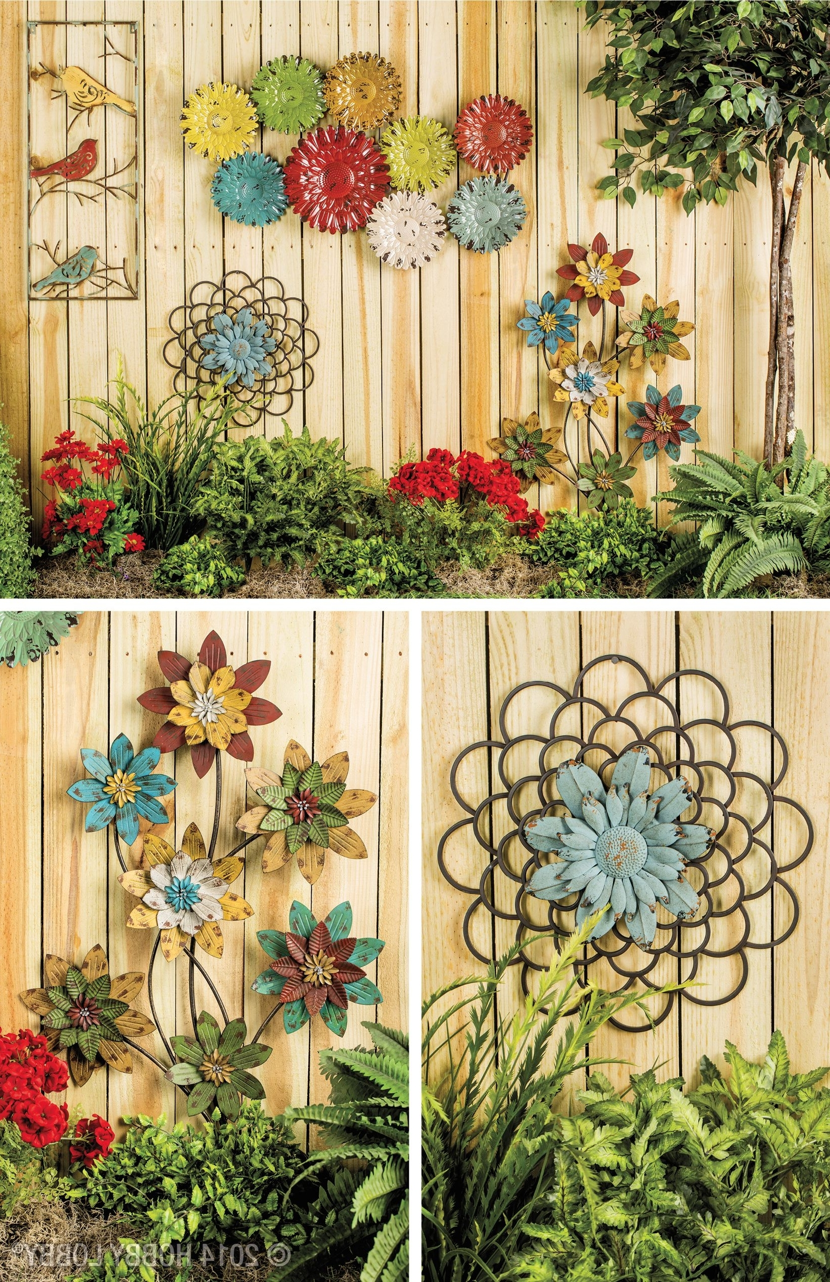 Newest Your Home Decor Will Blossom With An Eye Catching Array Of Floral With Garden Wall Accents (Gallery 7 of 15)