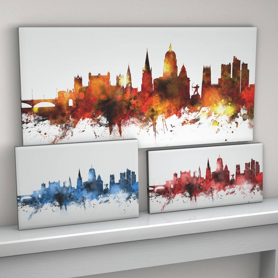 Notonthehighstreet Within Well Known Nottingham Canvas Wall Art (View 4 of 15)