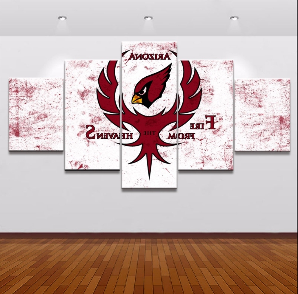 Online Shop 5 Piece Canvas Art Arizona Cardinals Modern Decorative Regarding Well Known Arizona Canvas Wall Art Arizona (View 10 of 15)