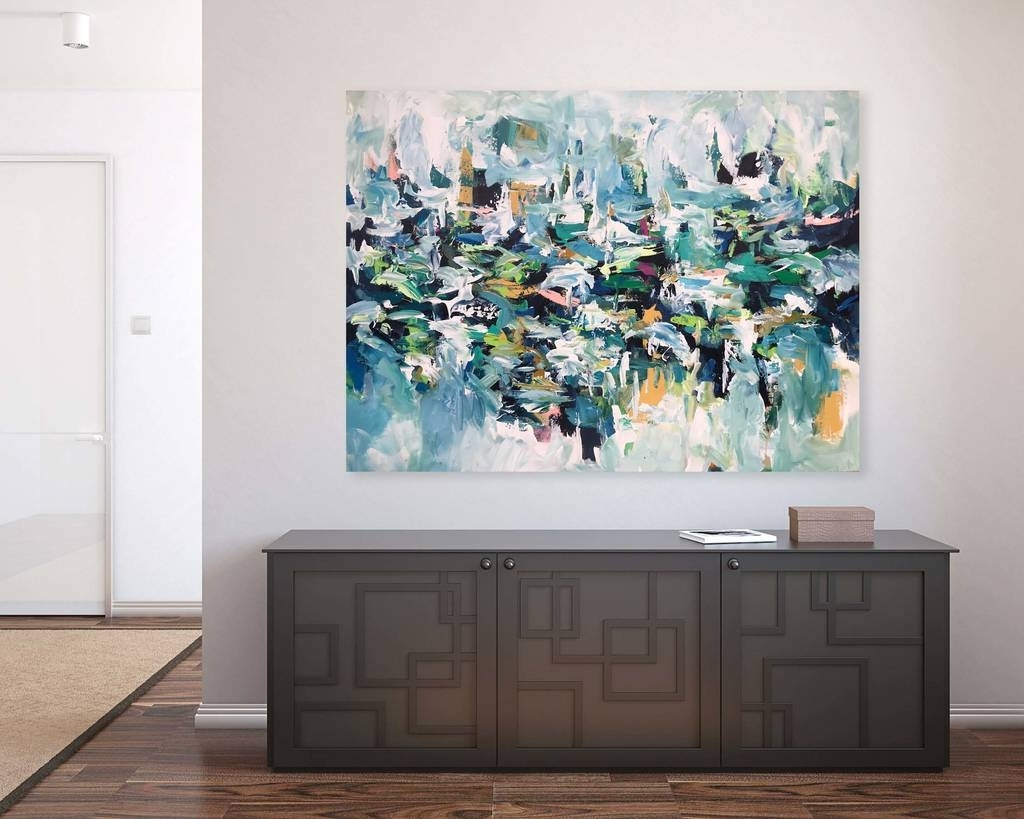Original Large Abstract Painting Canvas Wall Artomar Obaid Within Most Current Canvas Wall Art Of Philippines (View 9 of 15)