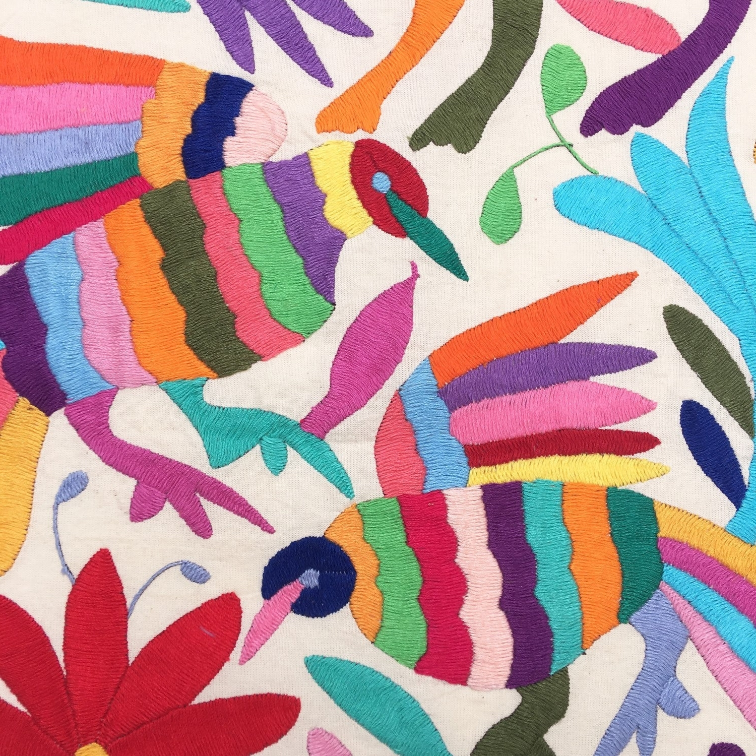 Otomi Fabric Runner Or Wall Art Mexican Tenango Otomi With Most Recent Mexican Fabric Wall Art (View 11 of 15)