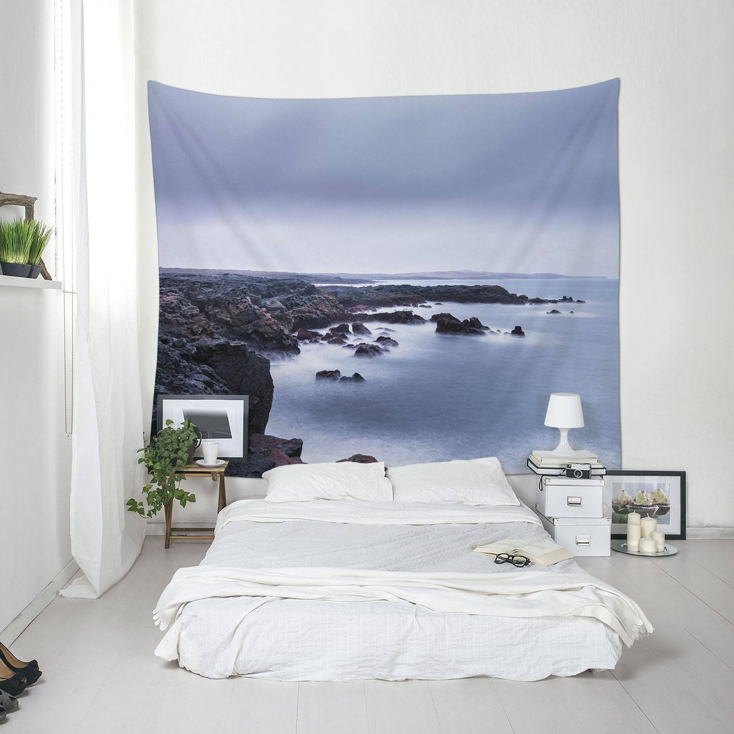 Outdoor Fabric Wall Art For Most Current Coastal Tapestry, Iceland Coast, Landscape Wall Art, Fabric (View 11 of 15)