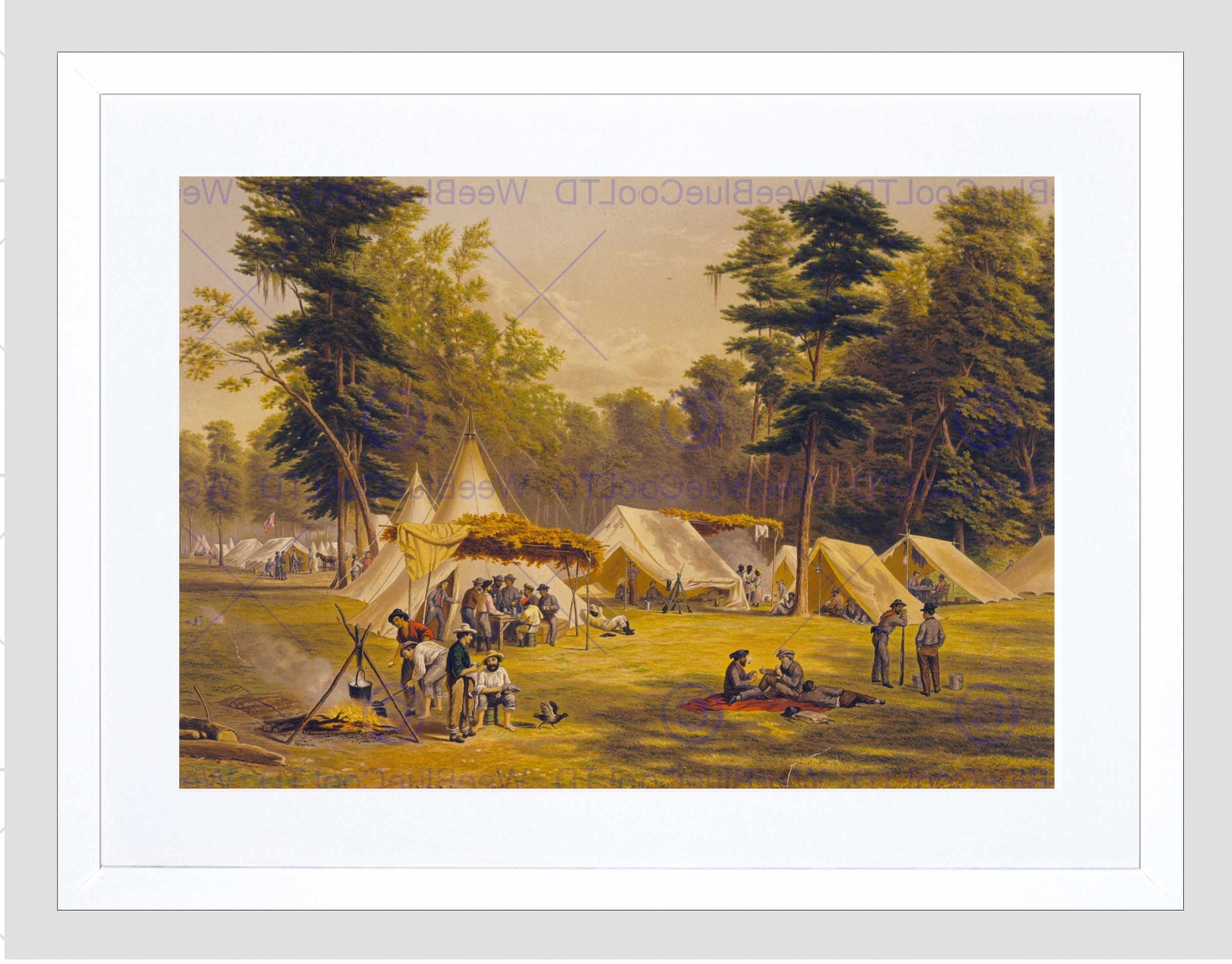 Paintings Confederate Army Camp American Civil War Framed Art With Favorite Confederate Framed Art Prints (View 8 of 15)