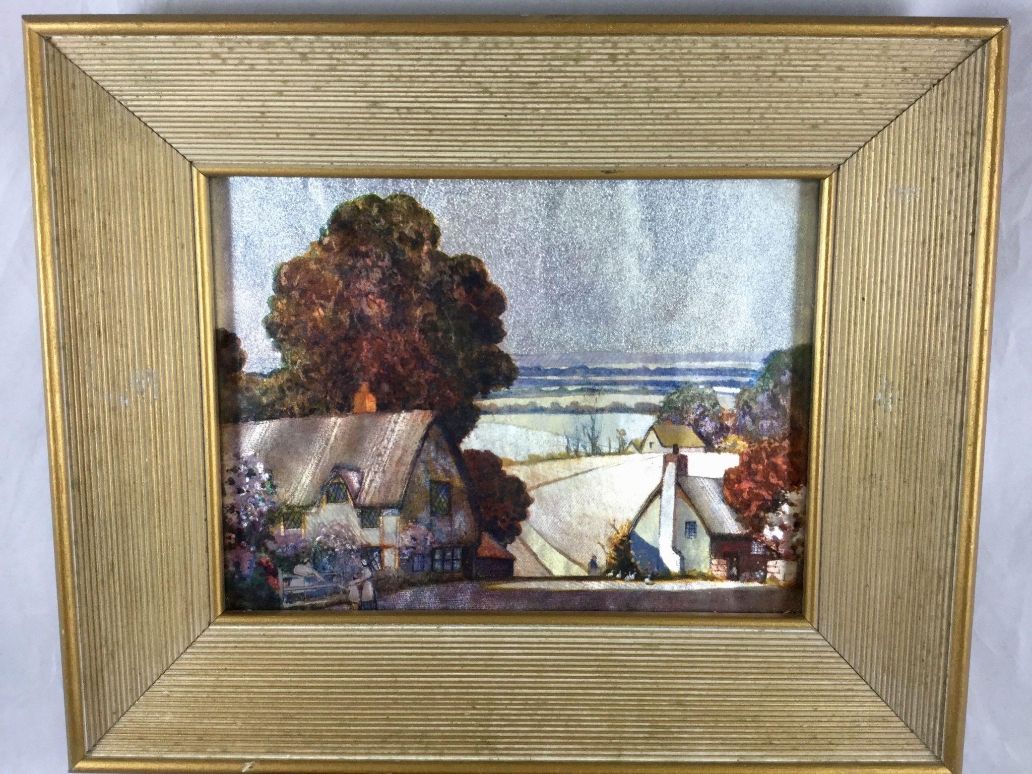 Pair Of Framed Art Prints Foil Art Printsernest Uden Country Regarding Recent Framed Country Art Prints (Gallery 15 of 15)