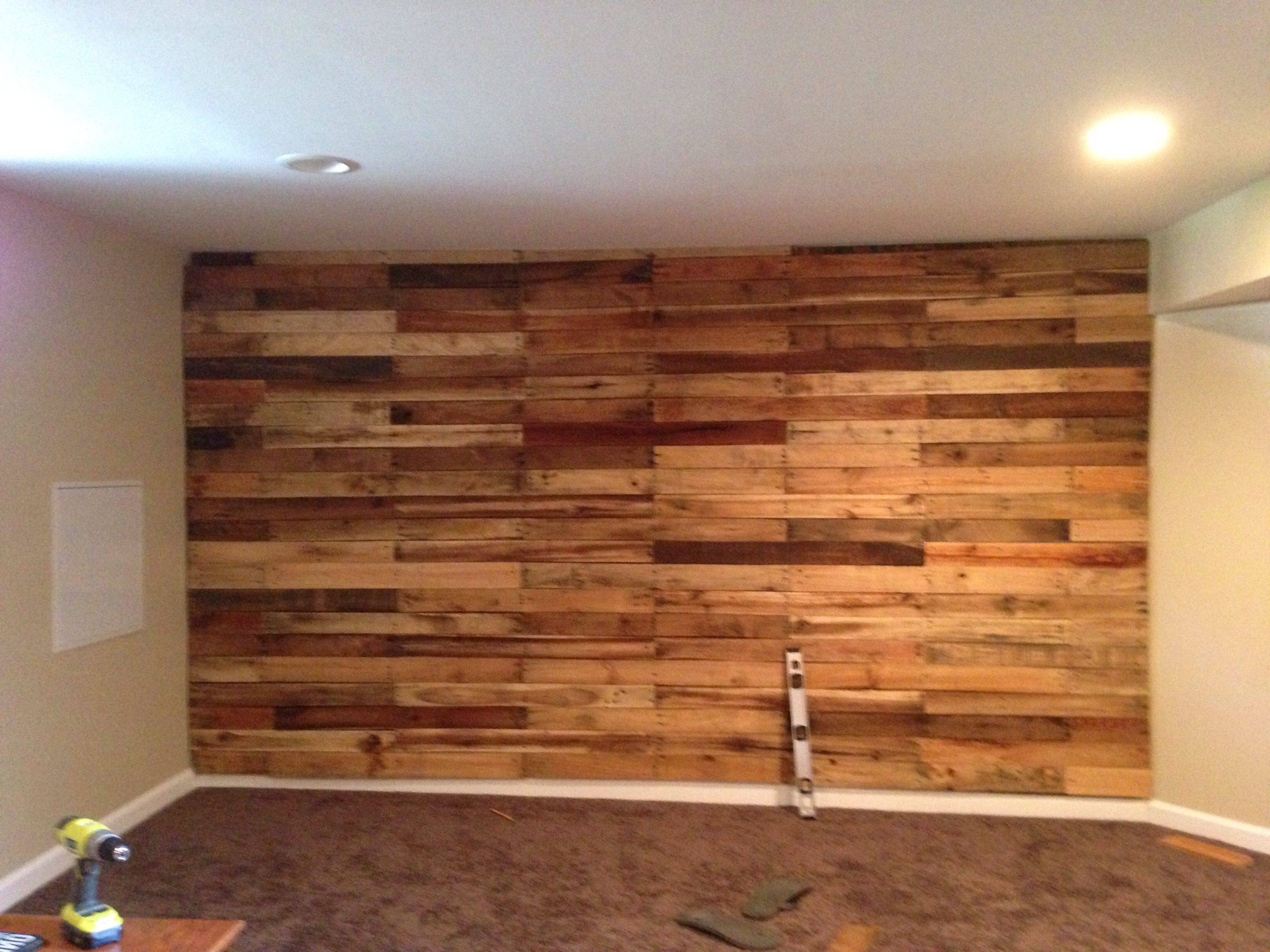 Pallet Accent Wall! – Album On Imgur Intended For Popular Garage Wall Accents (View 11 of 15)