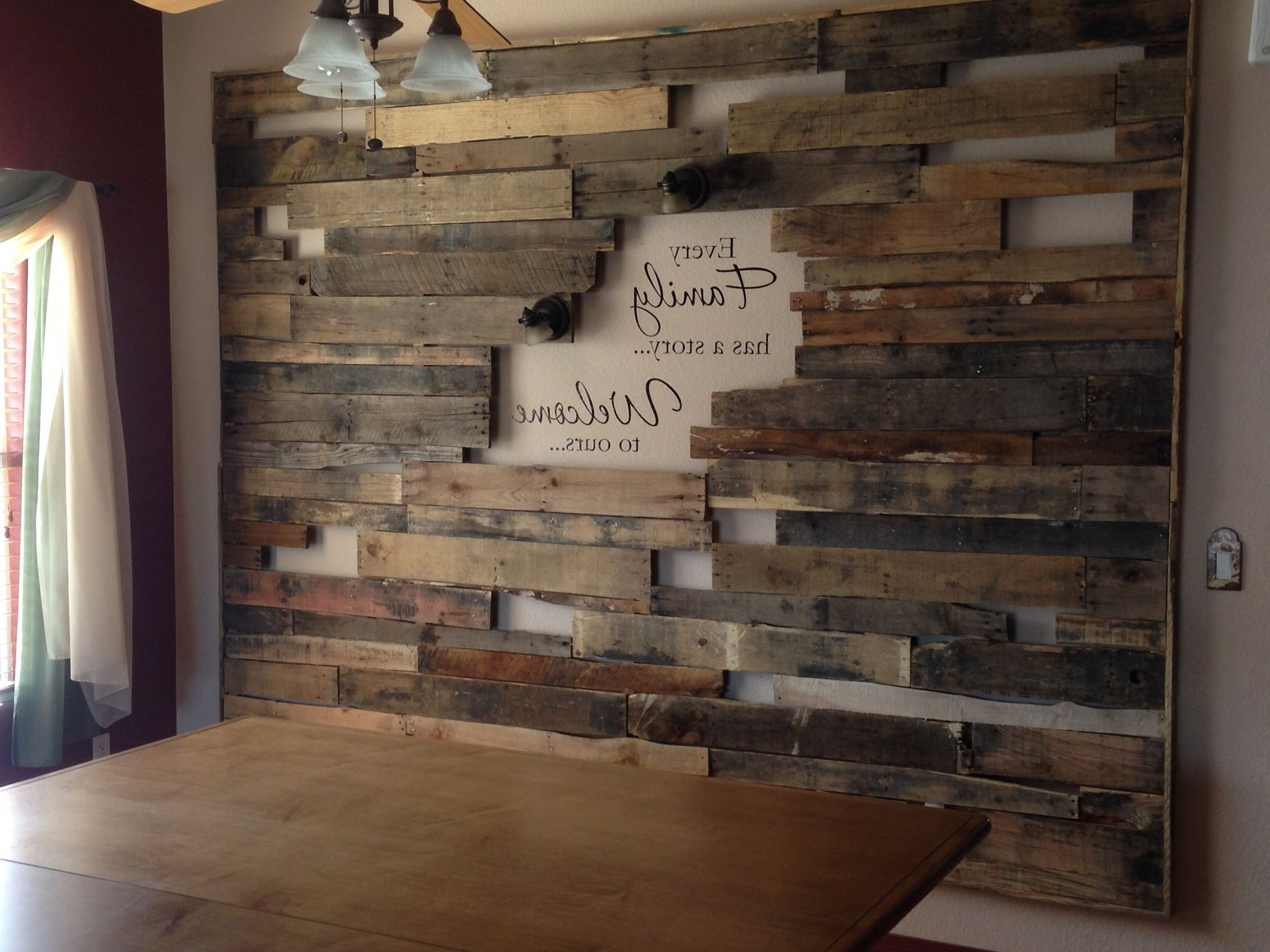 Pallet Accent Wall (View 7 of 15)