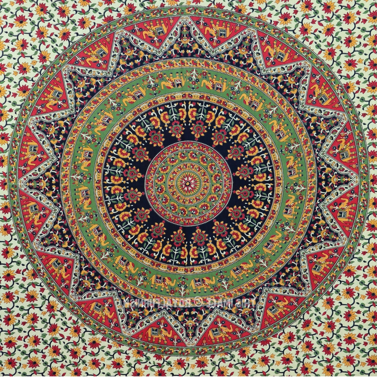 Panfan Site Inside Indian Fabric Wall Art (Gallery 15 of 15)