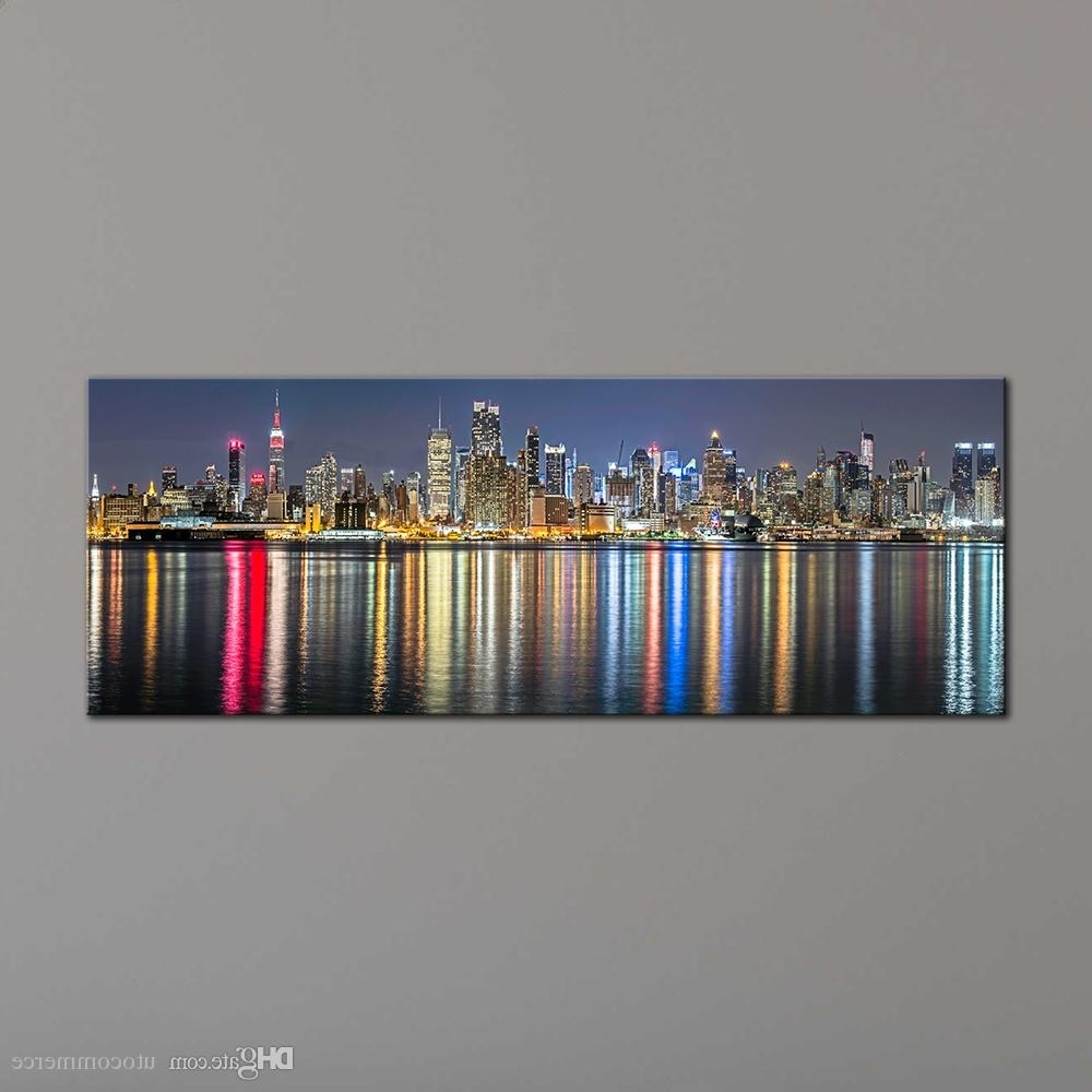 Panoramic Canvas Wall Art With Recent Unframe New York City Canvas Painting Panoramic Home Decor Canvas (View 11 of 15)