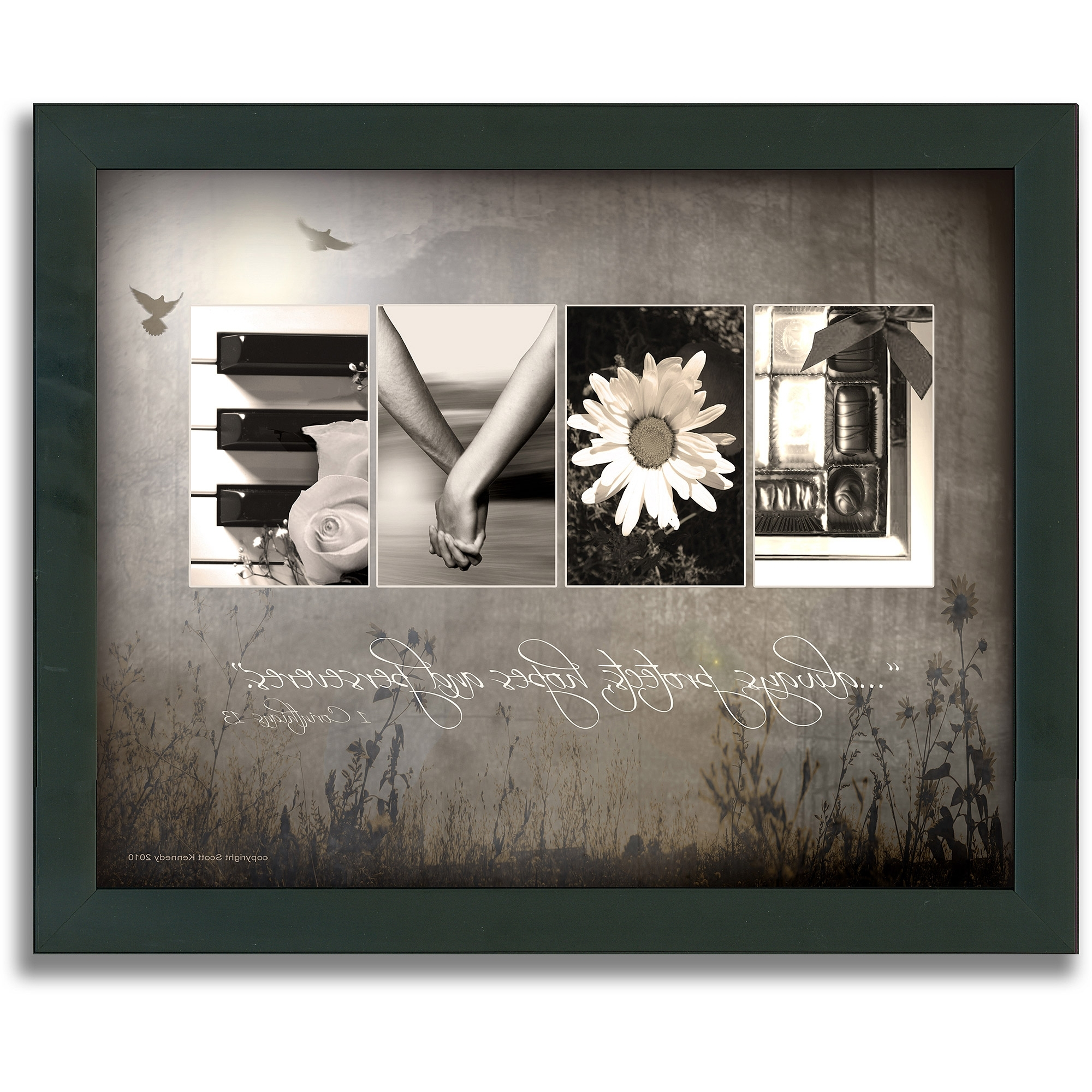 Personal Prints Love Letters Framed Canvas Wall Art U2013 Walmart Pertaining To  Well Known Canvas Wall