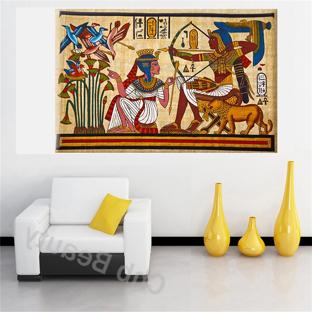 Pharaoh Egyptian Decor Canvas Painting Wall Pictures For Living Regarding Well Known Egyptian Canvas Wall Art (View 14 of 15)