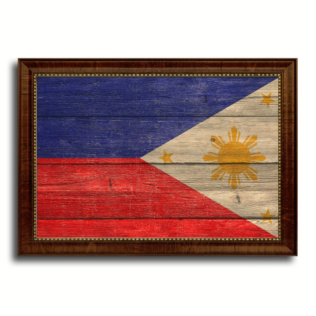 Philippines Country Flag Texture Canvas Print With Brown Custom Pertaining To Famous Canvas Wall Art Of Philippines (View 13 of 15)
