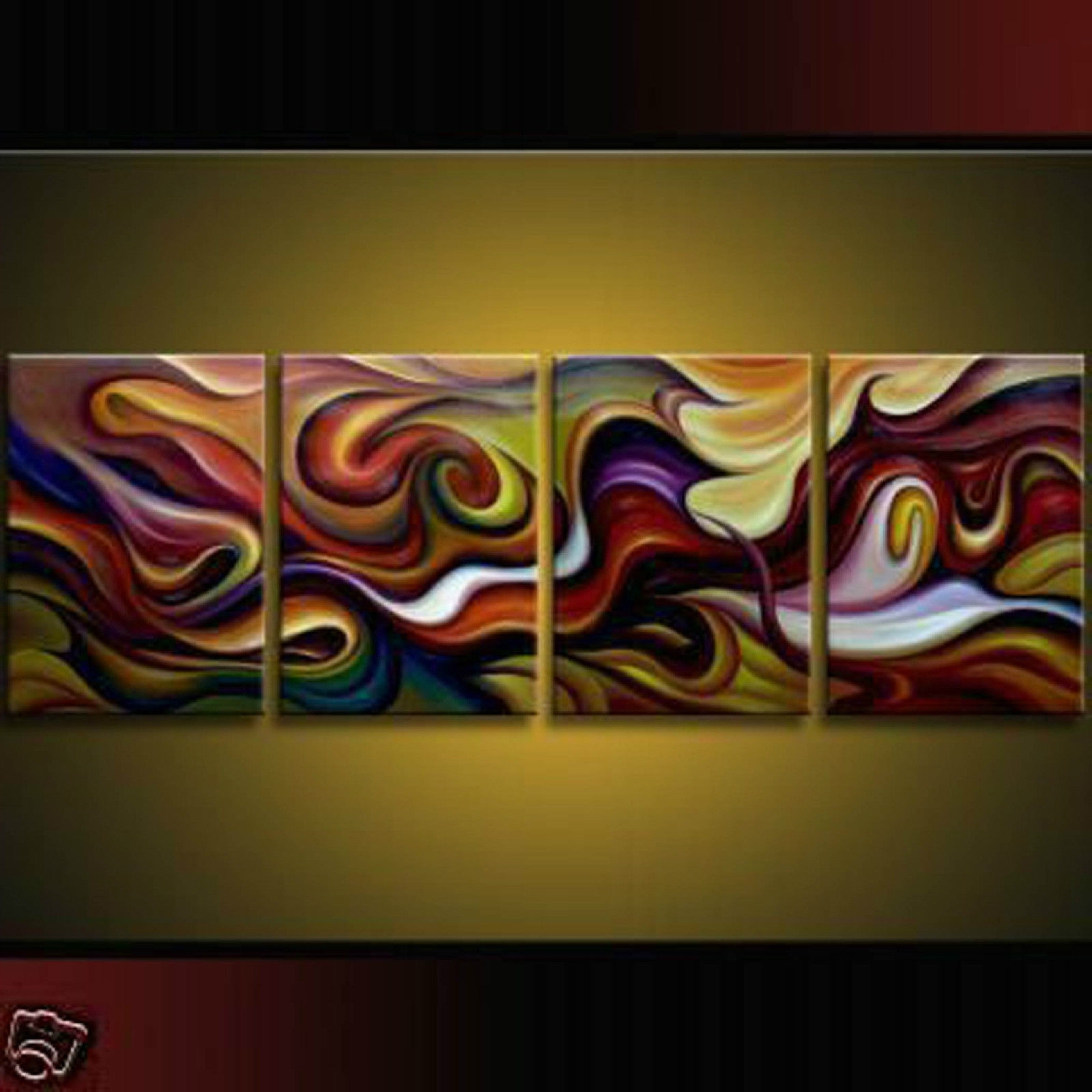 Piece Modern Abstract Huge Art Oil Painting Canvas Wall On Modern For Famous Oil Paintings Canvas Wall Art (View 11 of 15)