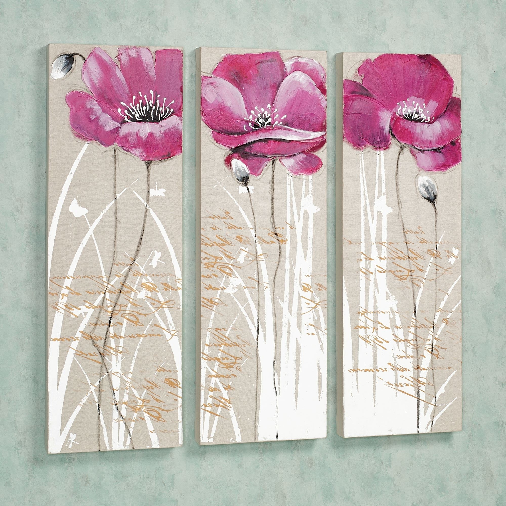 Pink Canvas Wall Art With Regard To Famous Floral And Botanical Canvas Wall Art (View 8 of 15)