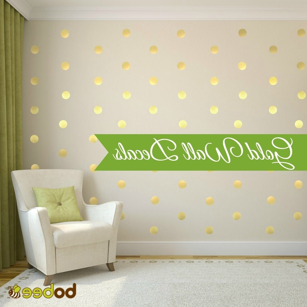 Polka Dot Wall Decals Intended For Wall Accent Decals (Gallery 5 of 15)
