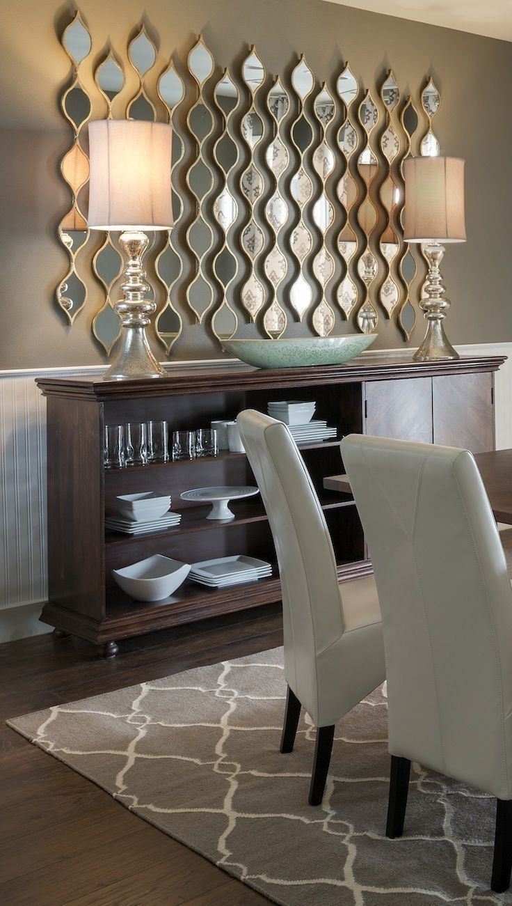 Popular Adding Multiple Little Mirrors Instead Of One Large Mirror Adds Within Wall Accents For Dining Room (View 2 of 15)