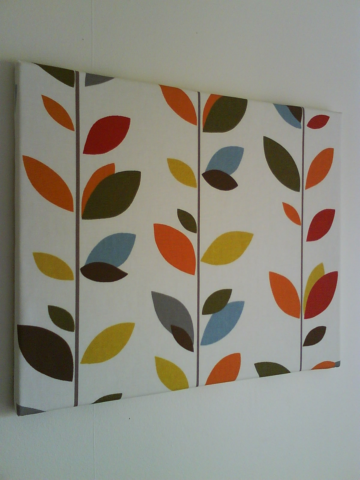 Popular Anminternational: Colourful Multi Stem Fabric Canvas Wall Art With Canvas Wall Art With Fabric (Gallery 12 of 15)