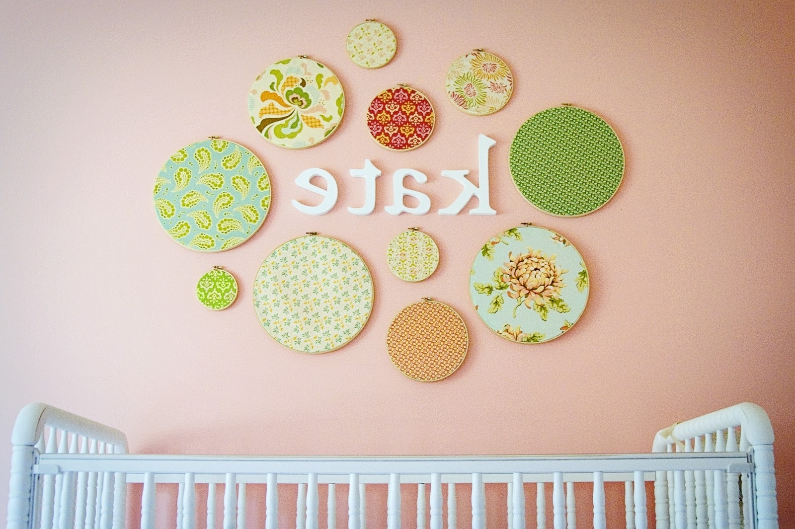 Featured Photo of Embroidery Hoop Fabric Wall Art
