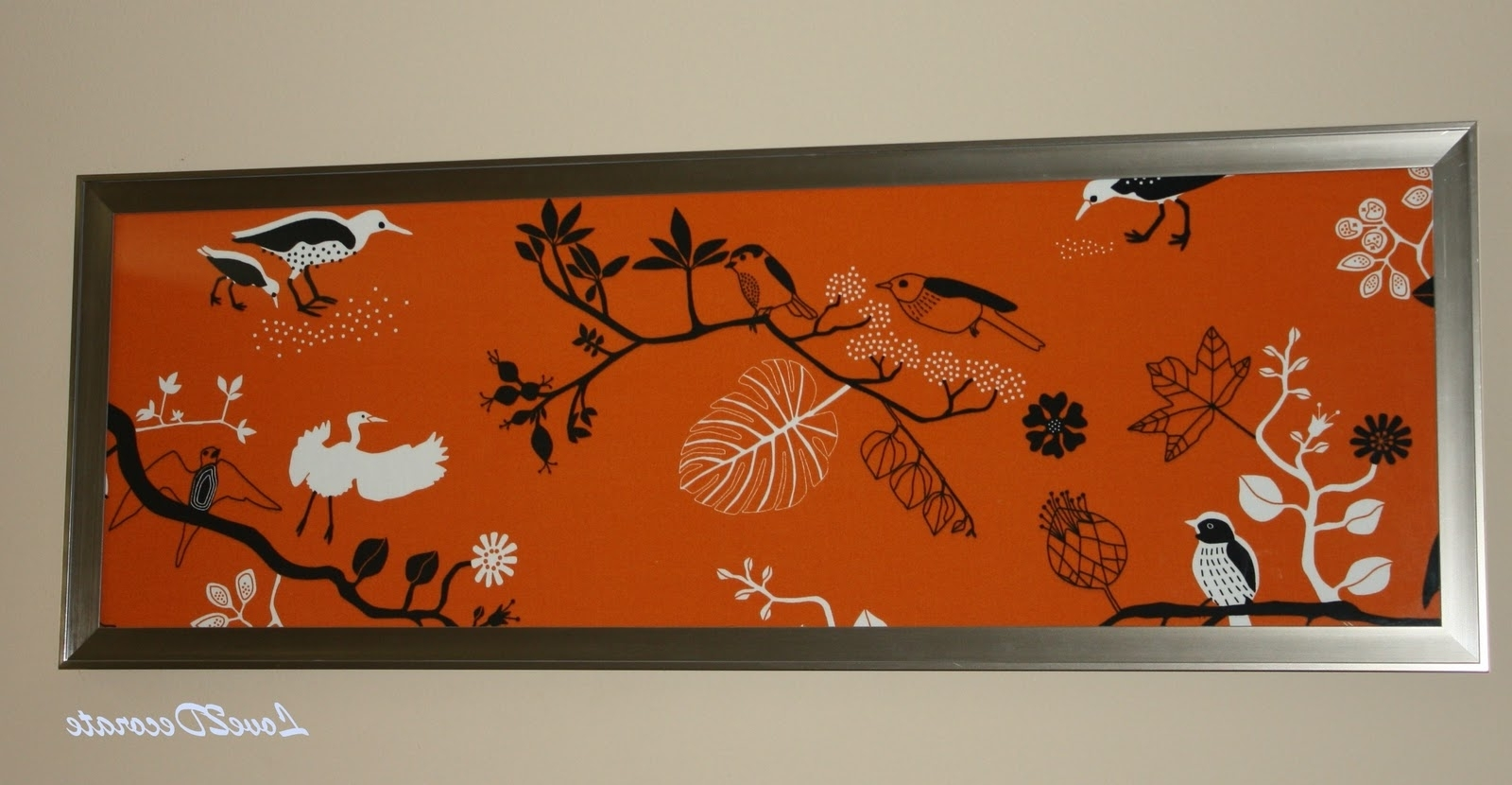 Popular Fabric Wall Art Frames Inside Love 2 Decorate: Frame + Fabric = Wall Art (View 11 of 15)