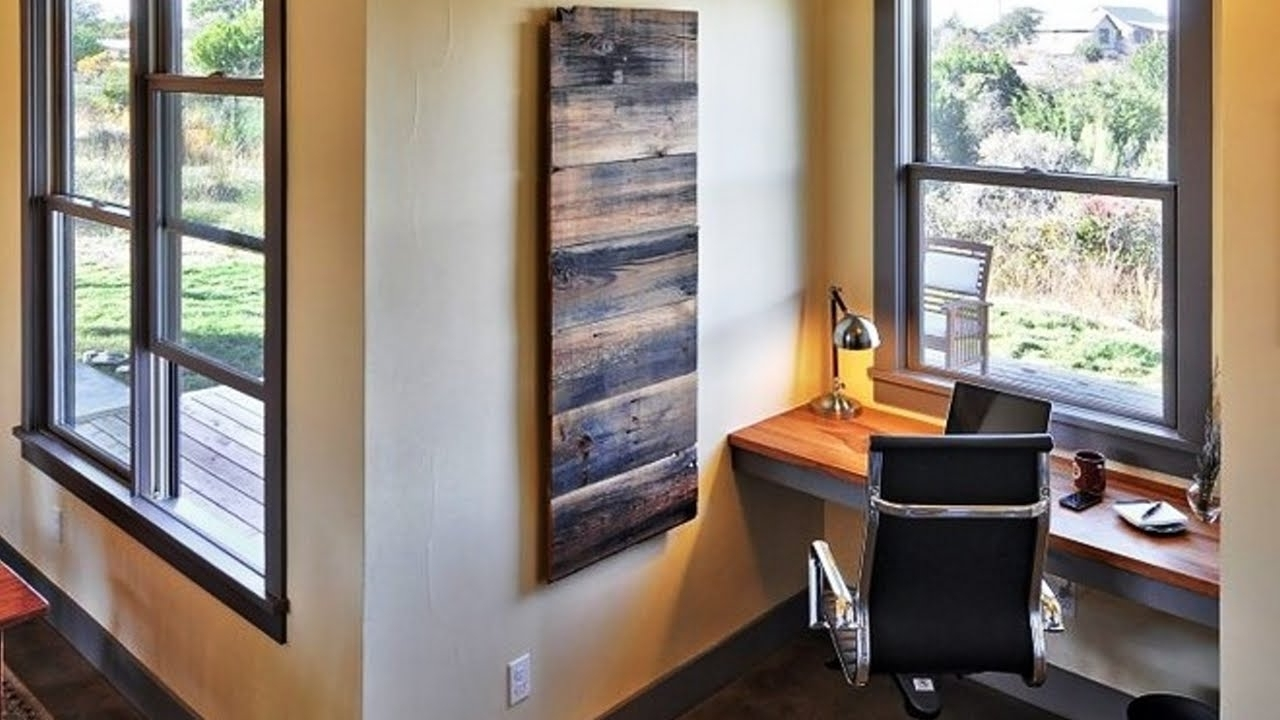 Popular Fabulous Diy Wooden Pallet Wall Art Ideas – Youtube With Wood Pallets Wall Accents (View 11 of 15)