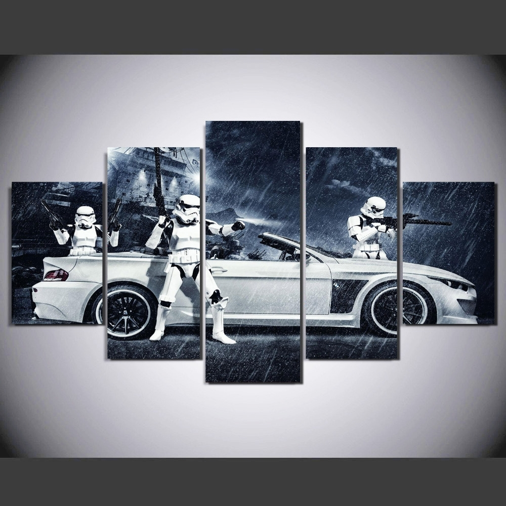 Popular Framed) 5 Pieces Star Wars Assault Vehicle Bmw Modern Home Wall Throughout Bmw Canvas Wall Art (View 2 of 15)