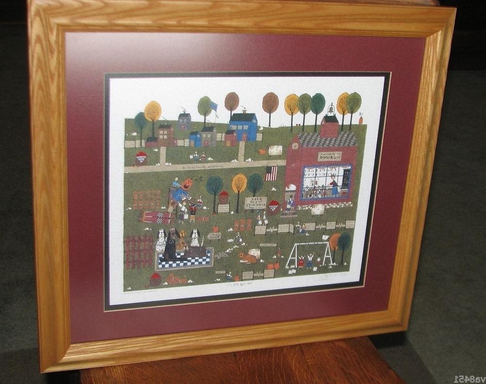 "Popular Framed Folk Art Prints Intended For Catherine Grunewald Artist Proof Print ""the Dog Ate It"" 12/ (View 13 of 15)"