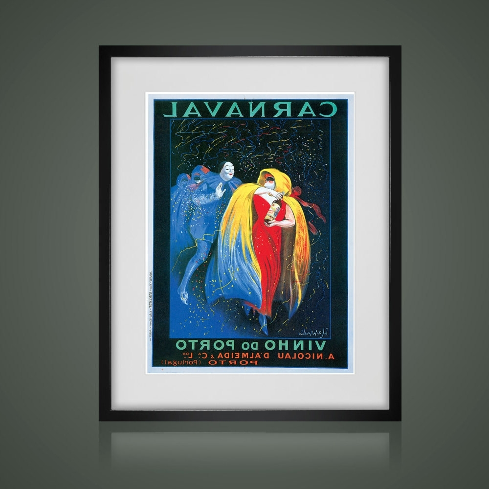 Popular Framed Wall Art, Vintage Advertising Poster, Matted And Framed Art Regarding Framed And Matted Art Prints (View 13 of 15)