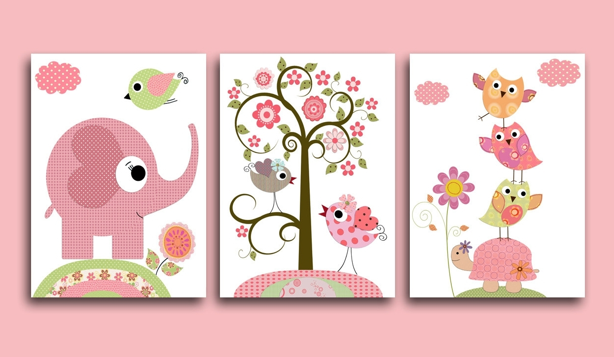Popular Girl Nursery Wall Accents Intended For Wall Decorations For Baby Girl Room • Walls Decor (Gallery 13 of 15)