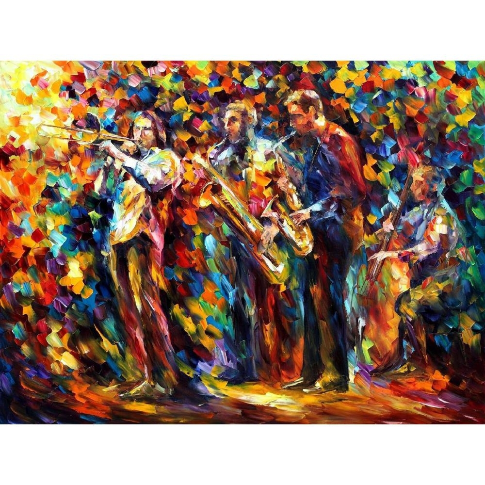 Popular Handmade Canvas Wall Pictures Pop Art Jazz Band Palette Knife Oil Pertaining To Jazz Canvas Wall Art (View 11 of 15)