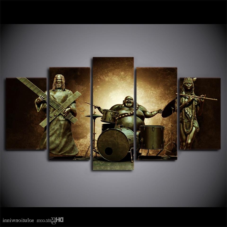 Popular Jesus Canvas Wall Art Regarding 2018 Framed Hd Printed Buddha Jesus Music Wall Art For Kid Room (View 9 of 15)
