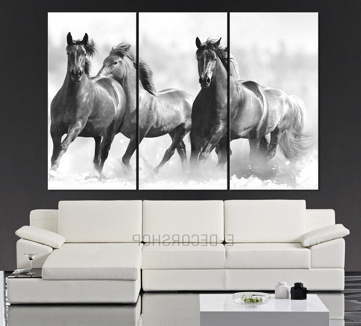 Popular Large Wall Art Running Wild Horses Canvas From Mycanvasprint Inside Horses Canvas Wall Art (View 6 of 15)