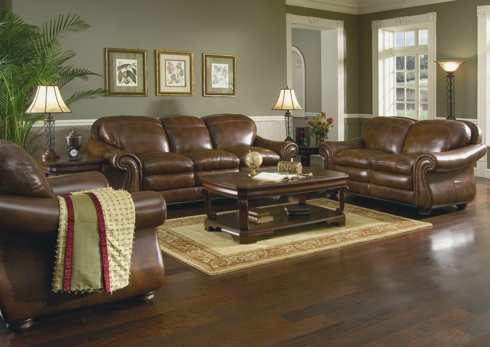 Popular Living Room : Dark Brown Couch Living Room Decor Relaxed Modern Regarding Brown Couch Wall Accents (Gallery 9 of 15)
