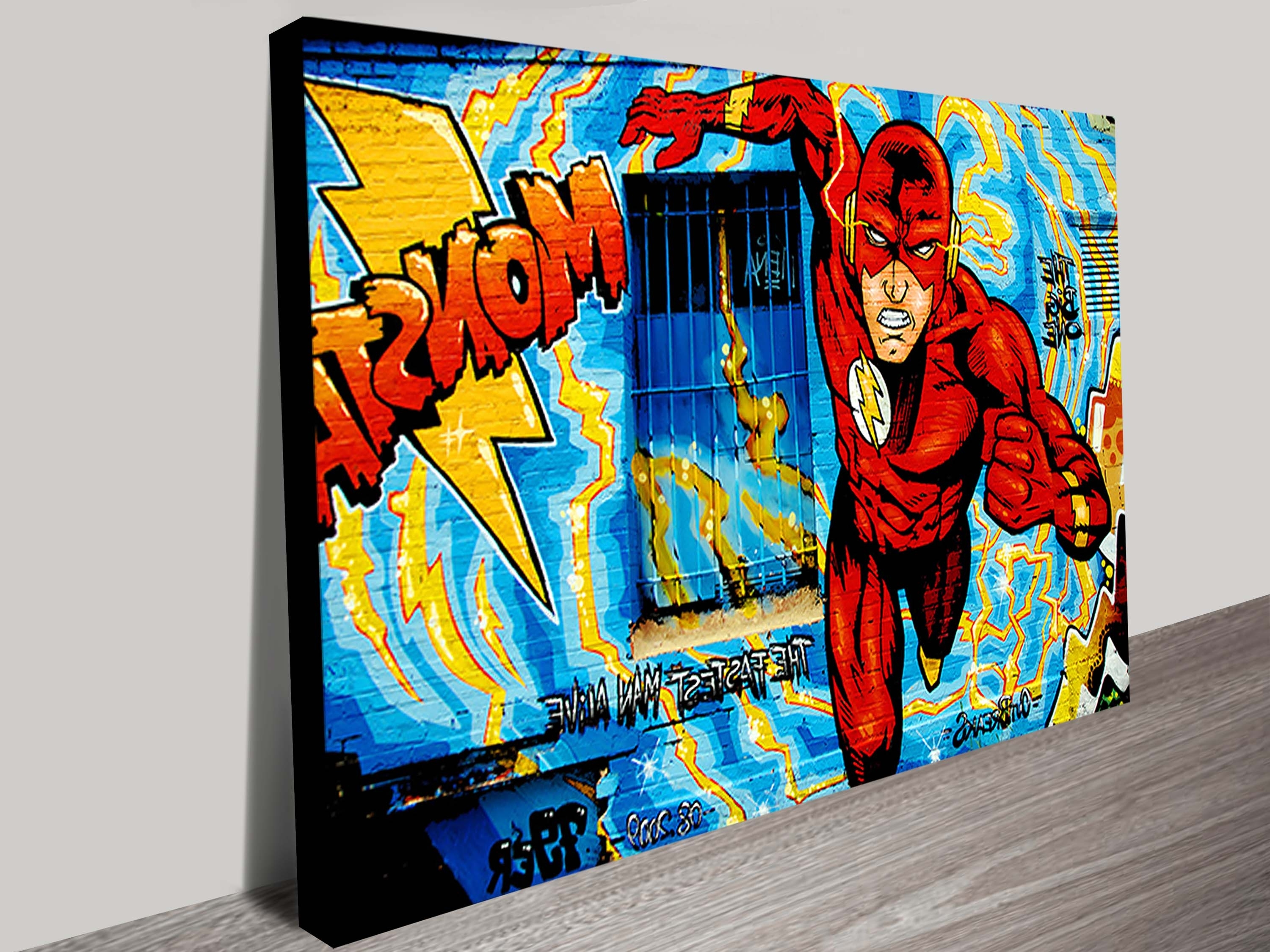 Popular Marvel Canvas Wall Art Within Comic Book Graffiti Wall Art Prints (View 13 of 15)
