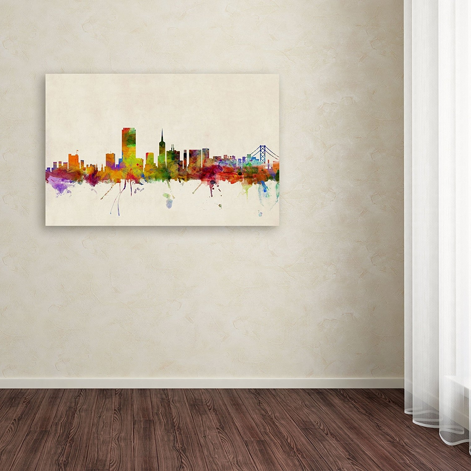 Popular Newcastle Canvas Wall Art In Amazon: San Francisco, Californiamichael Tompsett, (View 15 of 15)