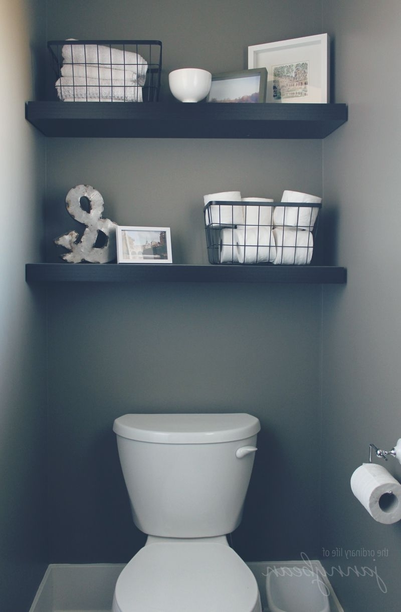 Popular One Room I Have Never Showed In The Blog Is The Powder Room Within Wall Accents Behind Toilet (View 9 of 15)