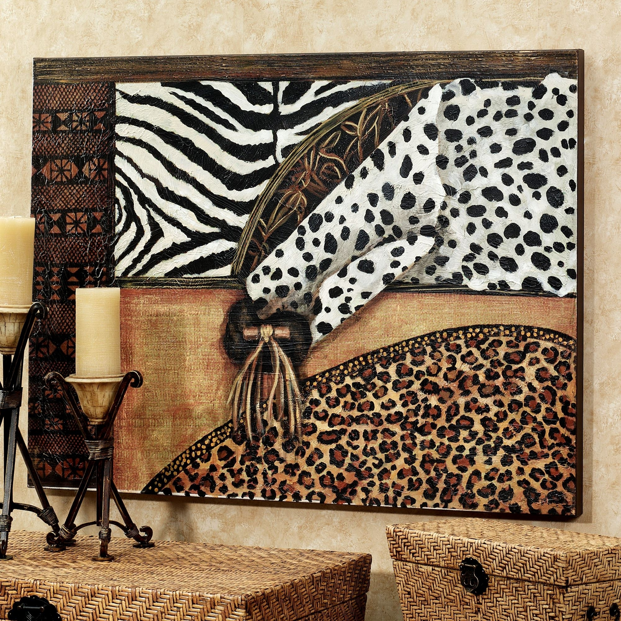 Popular Safari Canvas Wall Art Intended For Out Of Africa Canvas Art (View 2 of 15)